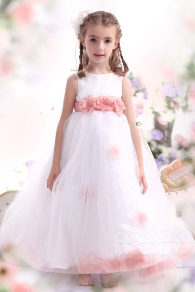 8db4361d00ab Pretty A Line Tank Top Ankle Length Organza Girls Easter Dress CKZA13006