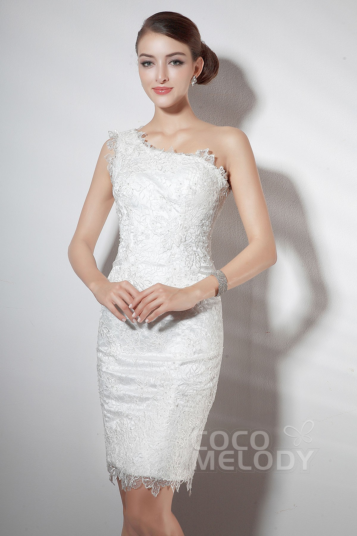 Cocomelody: Knielanges Partykleid mit Spitze COZM14019
